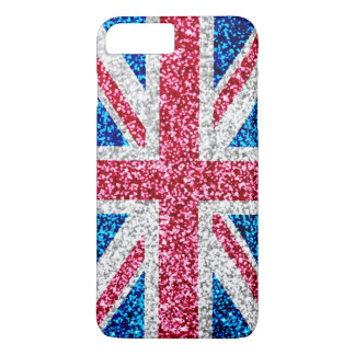 Glitter Union Jack UK British Flag iPhone 7 Plus Case