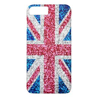 Glitter Union Jack UK British Flag iPhone 8 Plus/7 Plus Case