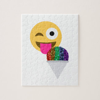 glitter wink emoji jigsaw puzzle