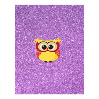 Glitter with Owl 21.5 Cm X 28 Cm Flyer