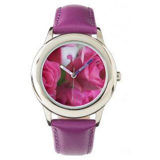 Glitter Wrist Watch - Pink Roses