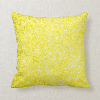 Glitter Yellow Cushion