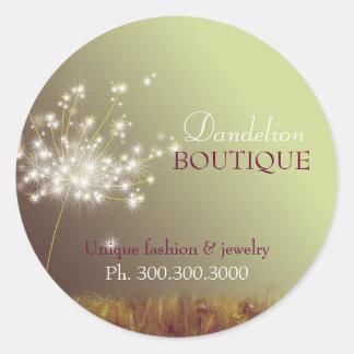 Glittering Dandelions Business Product Round Sticker