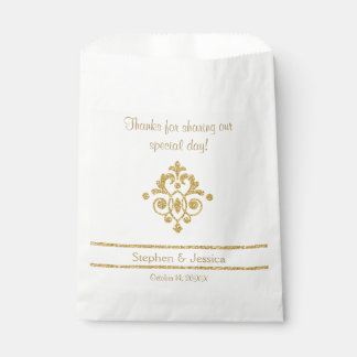 "Glittering Gold ""Thanks...Sharing Our Day"" Favour Bags"