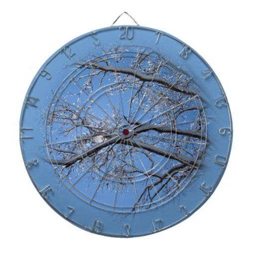 Glittering Ice and Snow Covered Trees Dartboards