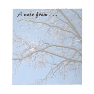 Glittering Ice and Snow Covered Trees Memo Pad