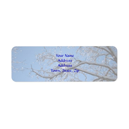 Glittering Ice and Snow Covered Trees Return Address Label