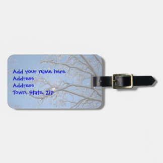 Glittering Ice and Snow Covered Trees Travel Bag Tag