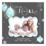 Glittering Jolly Happy Holidays Family Photo Cards Custom Announcement