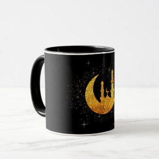 Glittering mosque and moon coffee mug