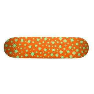 Glittering Orange Skateboard Deck