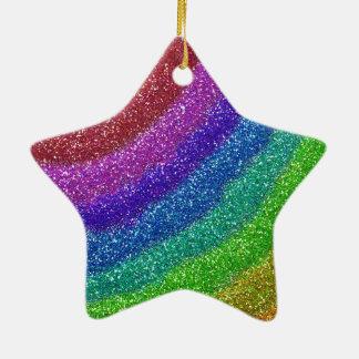 Glitters Rainbow Ceramic Star Decoration