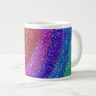 Glitters Rainbow 20 Oz Large Ceramic Coffee Mug
