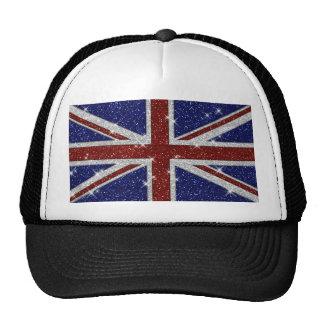 Glitters Shiny Sparkle Union Jack Flag Cap