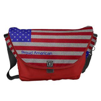 Glittery American Flag Commuter Bag