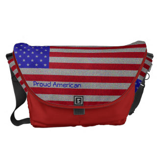 Glittery American Flag Courier Bags