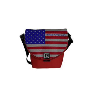 Glittery American Flag Courier Bag