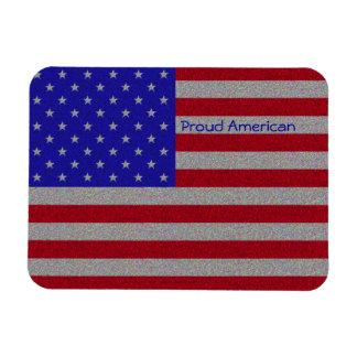 Glittery American Flag Rectangular Photo Magnet