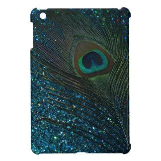 Glittery Aqua Peacock Cover For The iPad Mini