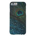 Glittery Aqua Peacock iPhone 6 Case