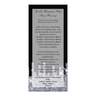 Glittery Black/Silver Glamour Elegant Program/ Rack Card
