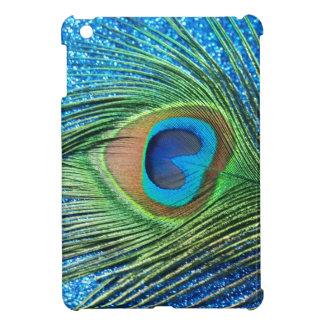 Glittery Blue Peacock Feather Still Life iPad Mini Case