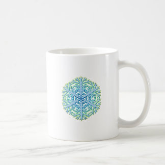 Glittery Christmas Snowflake Ice Crystal Mug