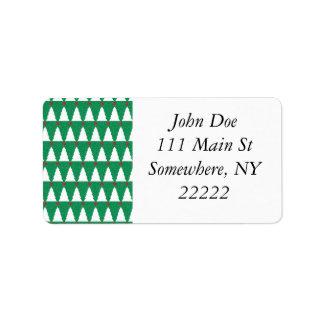 Glittery Christmas Trees Address Label