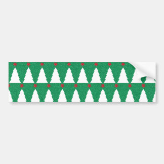 Glittery Christmas Trees Bumper Sticker