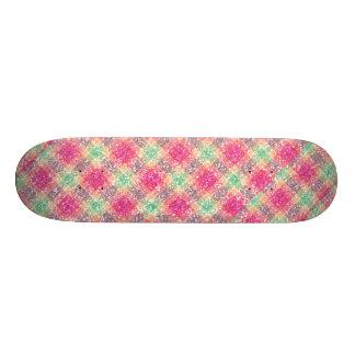 Glittery Easter Tartan Plaid 18.1 Cm Old School Skateboard Deck