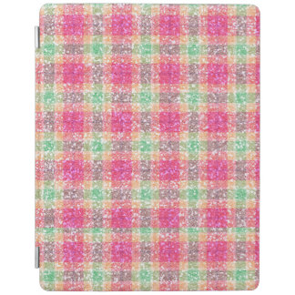 Glittery Easter Tartan Plaid iPad Cover