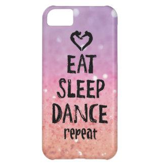 Glittery Eat, Sleep, Dance case iPhone 5C Case