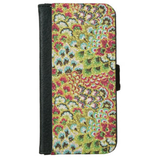 Glittery Fall Floral Tapestry iPhone 6 Wallet Case