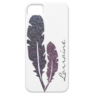 Glittery Feathers Barely There iPhone 5 Case