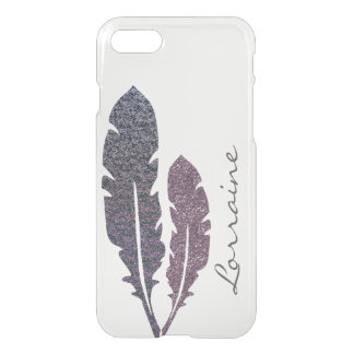 Glittery Feathers iPhone 8/7 Case