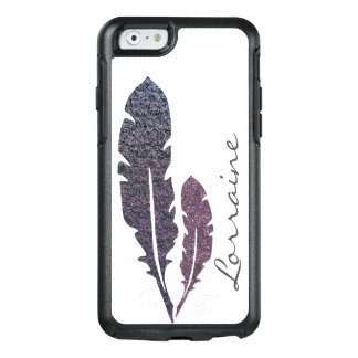 Glittery Feathers OtterBox iPhone 6/6s Case