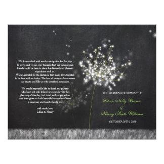 Glittery Floral Chalkboard Wedding Folded Programs 21.5 Cm X 28 Cm Flyer