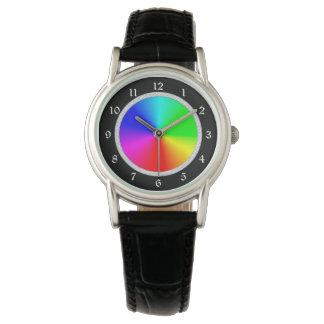 Glittery Frame Color Wheel Watch