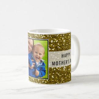 Glittery Gold Glitter Photo Mother's Day Coffee Mug