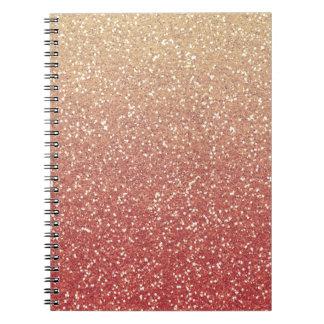 Glittery Gold Melon Notebook