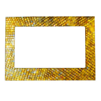Glittery Gold Mosaic Frame Magnet