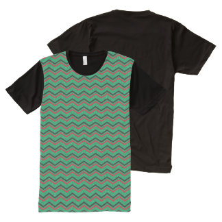 Glittery Holiday Zigzags All-Over Print T-Shirt