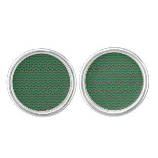 Glittery Holiday Zigzags Cuff Links