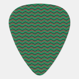 Glittery Holiday Zigzags Guitar Pick