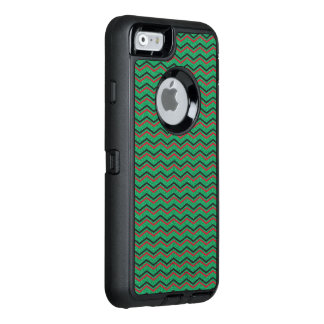Glittery Holiday Zigzags OtterBox Defender iPhone Case
