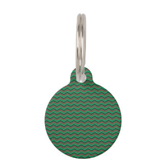 Glittery Holiday Zigzags Pet ID Tag