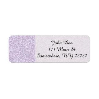 Glittery Lavender Return Address Label