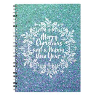 Glittery Merry Christmas | Notebook