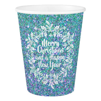 Glittery Merry Christmas | Paper Cups