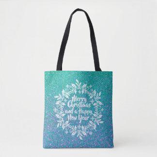 Glittery Merry Christmas | Tote Bag